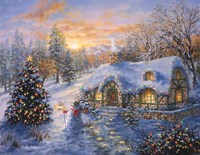 Christmas Cottage 1 Fine-Art Print