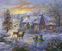 Christmas Cottage 2 Fine-Art Print