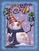 Snowman Juggle Fine-Art Print