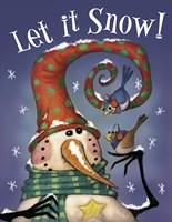 Snowman Birds 3 Fine-Art Print