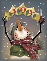 Snowman Stars Fine-Art Print
