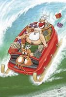Sleigh Surfing 1 Fine-Art Print