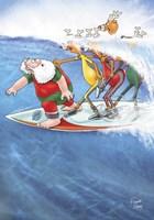 Surfin' Santa Fine-Art Print