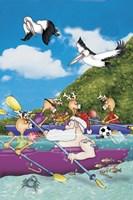 Kayaking Santa Fine-Art Print