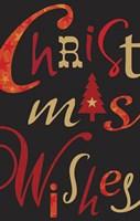 Christmas Text Black Fine-Art Print