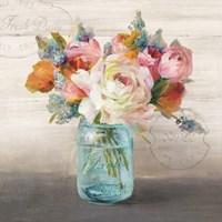 French Cottage Bouquet II Fine-Art Print