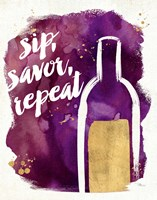 Watercolor Wine II Fine-Art Print