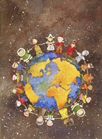 Holiday Children Around The World Fine-Art Print