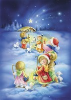 Little Shepherds Christmas Stroll Fine-Art Print