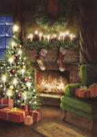 Christmas By The Fireplace Fine-Art Print
