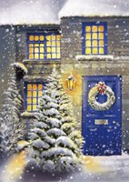 Blue Door and White Christmas Fine-Art Print