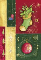 Holiday Sock and Christmas Ornament Fine-Art Print