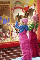 Christmas Toy Window Shopping Fine-Art Print
