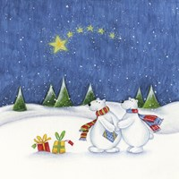 Bear Couple Holiday Snow Date Fine-Art Print