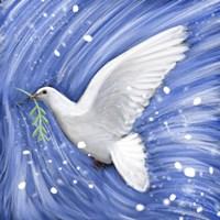 Dove In The Winter Wind Fine-Art Print