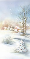 Christmas Snow In The Village Fine-Art Print