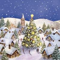 Village Christmas Tree Meet Fine-Art Print