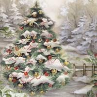 Christmas Tree In Snowy Woods Fine-Art Print