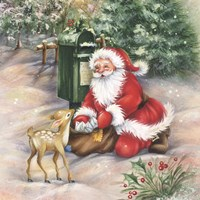 Santa's Meeting At the Mailbox Fine-Art Print
