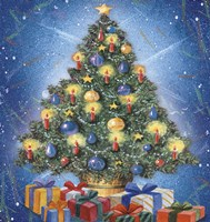 Christmas Tree and Colorful Gifts Fine-Art Print