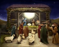 Three Kings Visit The Manger Fine-Art Print