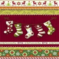 Christmas Eve Stocking Holiday Knit Fine-Art Print