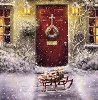 Red Door and White Christmas Fine-Art Print