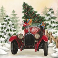 Christmas Tree Classic Car Ride I Fine-Art Print