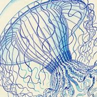 Vintage Jellyfish II Fine-Art Print