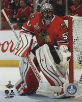 Corey Crawford Game 6 of the 2015 Stanley Cup Finals Fine-Art Print