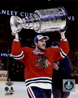 Andrew Shaw with the Stanley Cup Game 6 of the 2015 Stanley Cup Finals Fine-Art Print