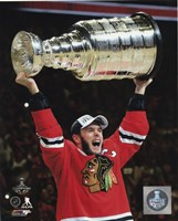 Jonathan Toews with the Stanley Cup Game 6 of the 2015 Stanley Cup Finals Fine-Art Print