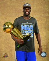 Draymond Green with the NBA Championship Trophy Game 6 of the 2015 NBA Finals Fine-Art Print