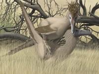 Two Velociraptor's during MatingSseason Fine-Art Print