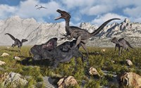 A Pack of Velociraptors Fine-Art Print