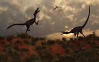 A Pair of Velociraptors Fine-Art Print