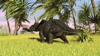 Triceratops Dinosaur 10 Fine-Art Print