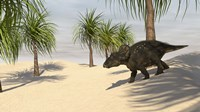 Triceratops Walking in a Tropical Environment 2 Fine-Art Print