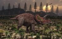 Artist's concept of Triceratops Fine-Art Print