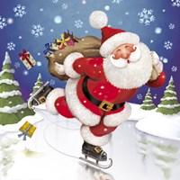 Santa's Skating This Christmas Fine-Art Print