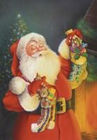 Santa Hanging The Stockings Fine-Art Print