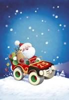 Santa Takes The Car Fine-Art Print