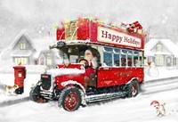 Santa's Happy Holiday Bus Fine-Art Print