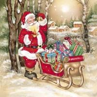 Santa's Bells And Candle Fine-Art Print