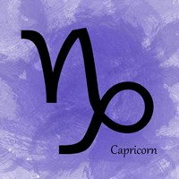 Capricorn - Purple Fine-Art Print