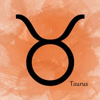 Taurus - Orange Fine-Art Print
