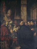Saint Ignatius of Loyola Receives Papal Bull from Pope Paul III Fine-Art Print