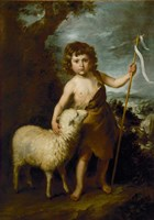 Young John the Baptist with the Lamb Fine-Art Print