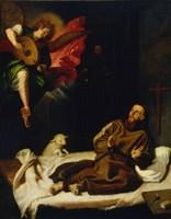 Saint Francis Vision of a Musical Angel Fine-Art Print