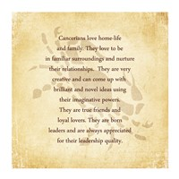 Cancer Character Traits Fine-Art Print